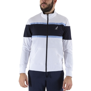 Men's Tennis Shirts and Hoodies Australian Color Block Sweatshirt  White/Navy LSUGC0008002