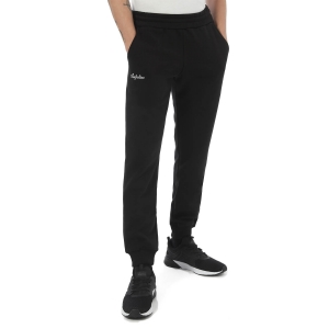 Men's Tennis Pants and Tights Australian Fleece Pants  Nero/Bianco LSUPA0009003A