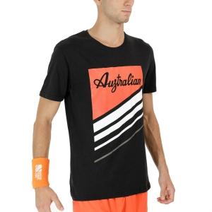 Men's Tennis Shirts Australian Graphic TShirt  Nero TEUTS0015003