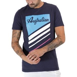 Men's Tennis Shirts Australian Graphic TShirt  Blu Navy TEUTS0015200