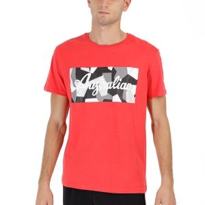 Men's Tennis Shirts Australian Graphic TShirt  Rosso Vivo TEUTS0016720