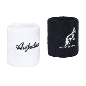 Tennis Wristbands Australian H8 Small Wristbands  Blue/White TEXPS0007200002