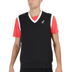 Maglie e Felpe Tennis Uomo Australian Logo Gilet  Nero TEUGI0001003