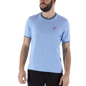 Camisetas de Tenis Hombre Australian Piquet Camiseta  Pastel Blue/Black LSUTS0002440