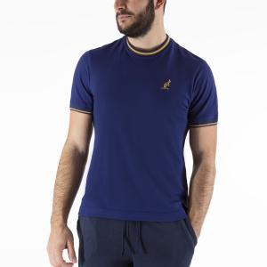 Camisetas de Tenis Hombre Australian Piquet Camiseta  Kosmo Blue/Orange LSUTS0002842