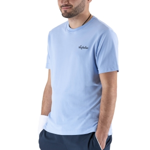 Camisetas de Tenis Hombre Australian Piquet Camiseta  Azzurro Pastello LSUTS0003440