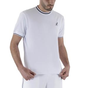 Camisetas de Tenis Hombre Australian Piquet Camiseta  Bianco LSUTS0002002