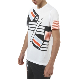 Men's Tennis Shirts Australian Roma 21 Ace TShirt  Bianco TEUTS0037002