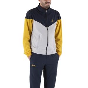 Men's Tennis Suit Australian Slam Bodysuit  Cenere Ash/Navy Blue LSUTU0044733