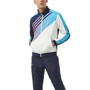 Men's Tennis Suit Australian Smash Printed Bodysuit  Bianco TEUTU0005002