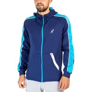 Men's Tennis Jackets Australian Volee Jacket  Blu Cosmo TEUGC0003842