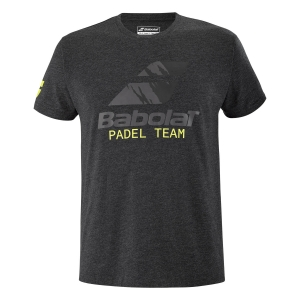 Men's Tennis Shirts Babolat Team TShirt  Black Heather 6MS214412003