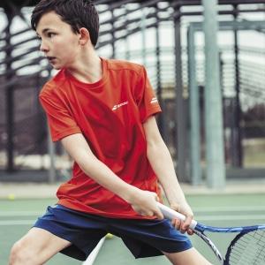 Babolat Play Crew Camiseta Niño - Tomato Red