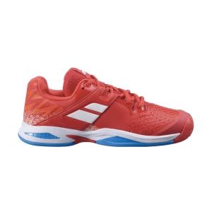 Scarpe Tennis Junior Babolat Propulse All Court Bambini  Cherry Tomato/White 33F214785050