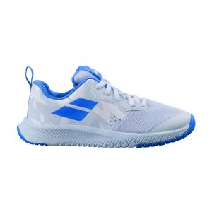 Scarpe Tennis Junior Babolat Pulsion All Court Bambini  White/Illusion Blue 33F214821060