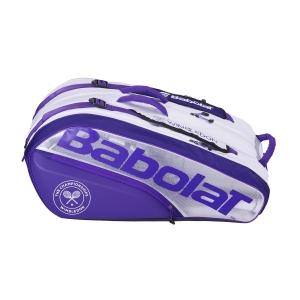 Tennis Bag Babolat Pure X 12 Wimbledon Bag  White/Purple 751205167
