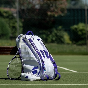 Babolat Pure X 12 Wimbledon Bag - White/Purple