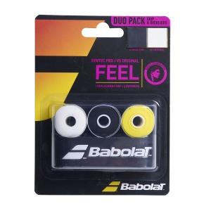 Recambio de Grip Babolat Duo Pack Syntec Pro x1 + Vs Original x3  Black/Yellow/White 670068369