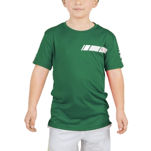 Polo e Maglie Tennis Dunlop Club Crew Maglietta Bambino  Green/White 71393