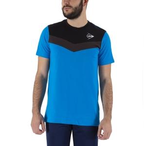 Camisetas de Tenis Hombre Dunlop Crew Essentials Camiseta  Cobalt/Anthra 72247