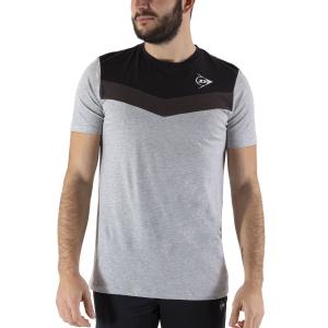 Camisetas de Tenis Hombre Dunlop Crew Essentials Camiseta  Grey/Anthra 72246