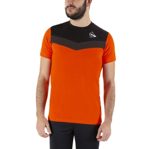 Camisetas de Tenis Hombre Dunlop Crew Essentials Camiseta  Orange/Anthra 72245