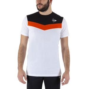 Camisetas de Tenis Hombre Dunlop Crew Essentials Camiseta  White/Anthra 72249