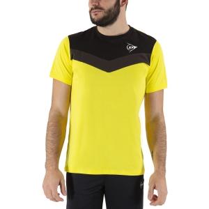Camisetas de Tenis Hombre Dunlop Crew Essentials Camiseta  Yellow/Anthra 72248