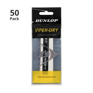 Sobregrip Dunlop ViperDry Overgrip x 50 Pack  White 1030477250
