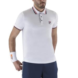 Polo Tennis Uomo Fila Albert Polo  White XFM211037001