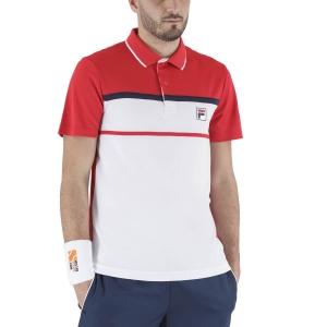 Polo Tennis Uomo Fila Anton Polo  White/Red FBM211010E003