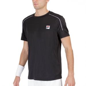 Camisetas de Tenis Hombre Fila Arnaud Camiseta  Black FOM219301900