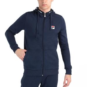 Men's Tennis Shirts and Hoodies Fila Benny Hoodie  Peacoat Blue FLU212009100