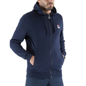 Men's Tennis Shirts and Hoodies Fila Eddy Hoodie  Peacoat Blue FLU211009100