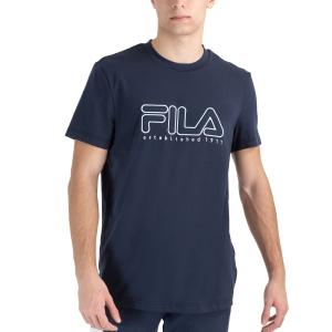 Men's Tennis Shirts Fila Felix TShirt  Peacoat Blue FLU212010100