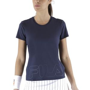 Women`s Tennis T-Shirts and Polos Fila Feliz TShirt  Peacoat/Blue FBL211131E100