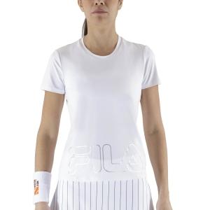 Magliette e Polo Tennis Donna Fila Feliz Maglietta  White FBL211131E001