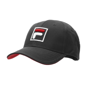 Tennis Hats and Visors Fila Forze Baseball Hat  Black XS12FBU016900
