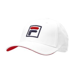 Tennis Hats and Visors Fila Forze Baseball Hat  White/Red XS12FBU016008
