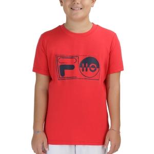 Tennis Polo and Shirts Fila Jacob TShirt Boys  Red FJL212015500