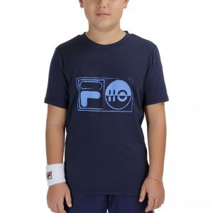Tennis Polo and Shirts Fila Jacob TShirt Boys  Peacoat Blue FJL212015100