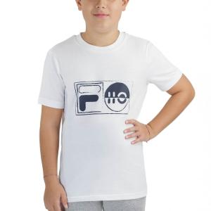 Tennis Polo and Shirts Fila Jacob TShirt Boys  White FJL212015001