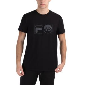 Men's Tennis Shirts Fila Jacob TShirt  Black FLU212015900