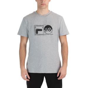 Men's Tennis Shirts Fila Jacob TShirt  Light Grey Melange FLU212015850