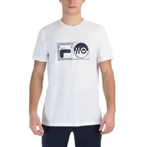 Men's Tennis Shirts Fila Jacob TShirt  White FLU212015001