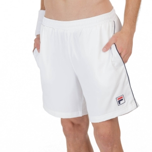 Men's Tennis Shorts Fila Leon 7in Shorts  White FBM211005001