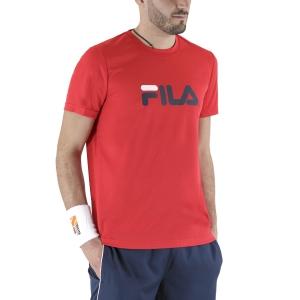 Maglietta Tennis Uomo Fila Logo Maglietta  Red FLM131020500