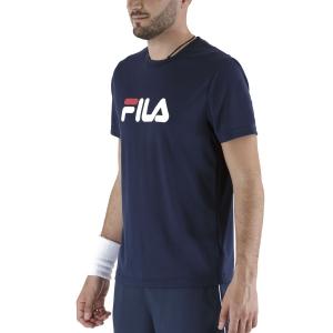 Maglietta Tennis Uomo Fila Logo Maglietta  Peacoat Blue FLM131020100