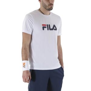 Maglietta Tennis Uomo Fila Logo Maglietta  White FLM131020001