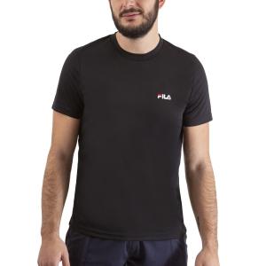 Maglietta Tennis Uomo Fila Logo Small Maglietta  Black FLM142020900